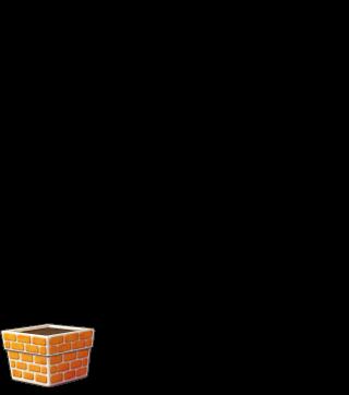 DORAKENオレンジの植木鉢(LV0)