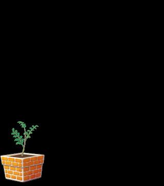 DORAKENオレンジの植木鉢(LV3)