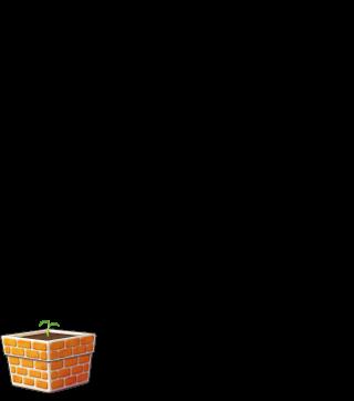 DORAKENオレンジの植木鉢(LV1)