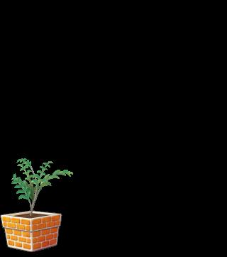 DORAKENオレンジの植木鉢(LV4)